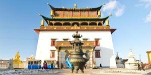 Gandan Monastery Ulan Bator Mongolia