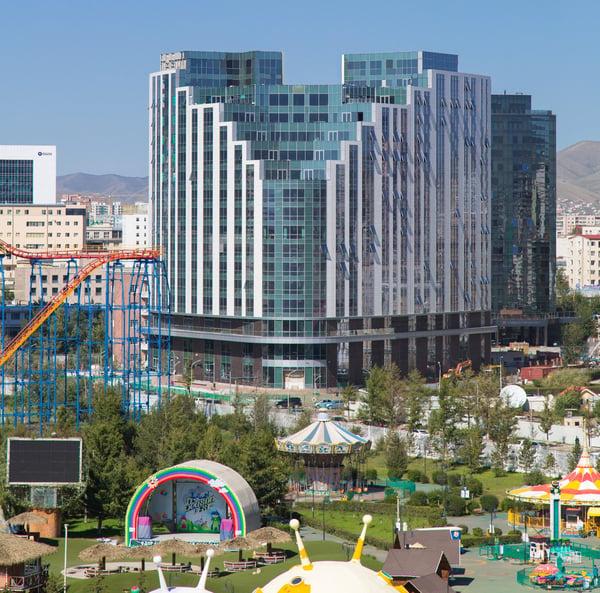 Olympic Residence from Children's Park