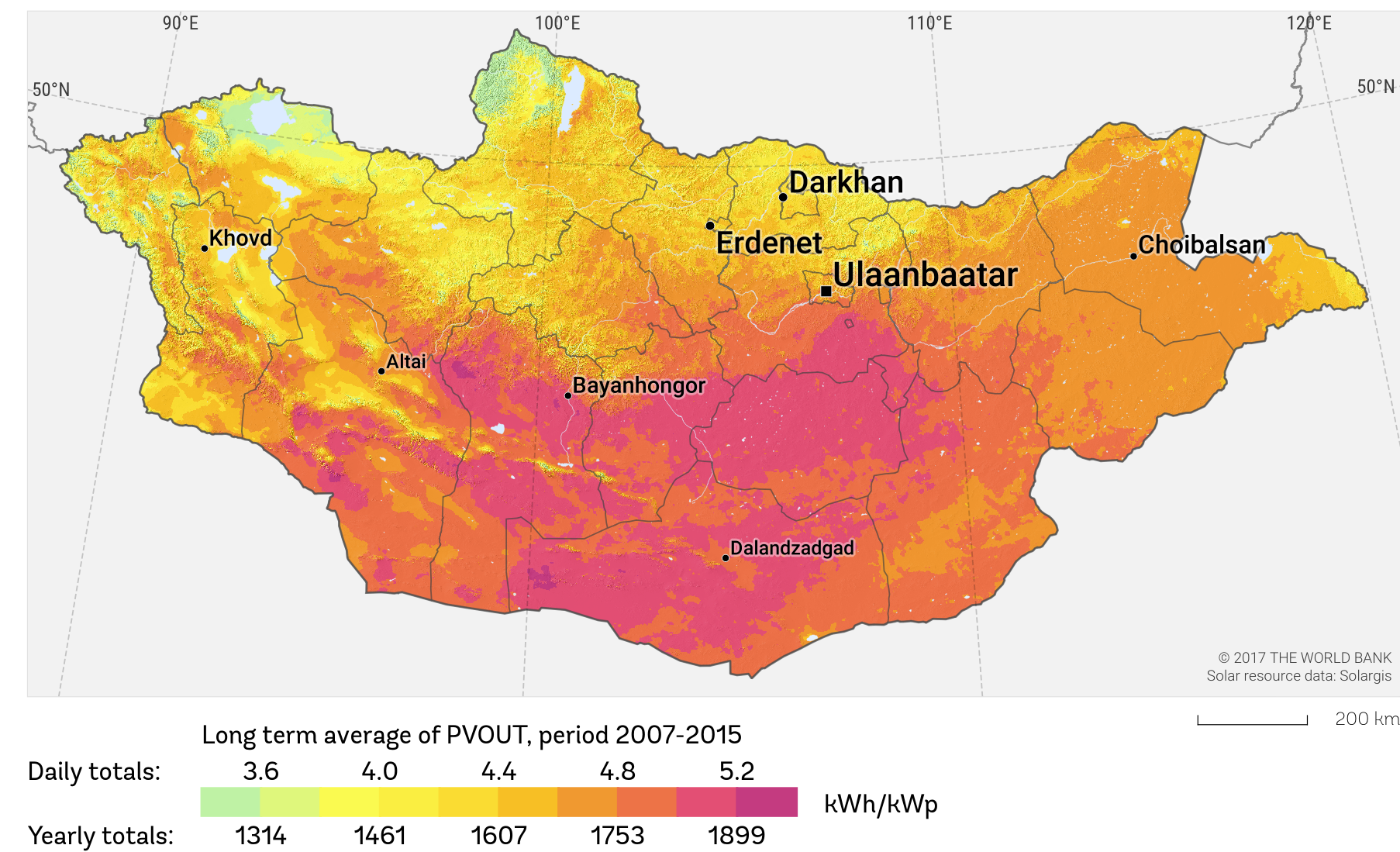Solar Potential In Mongolia