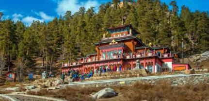 Mongolian Countryside Monastery