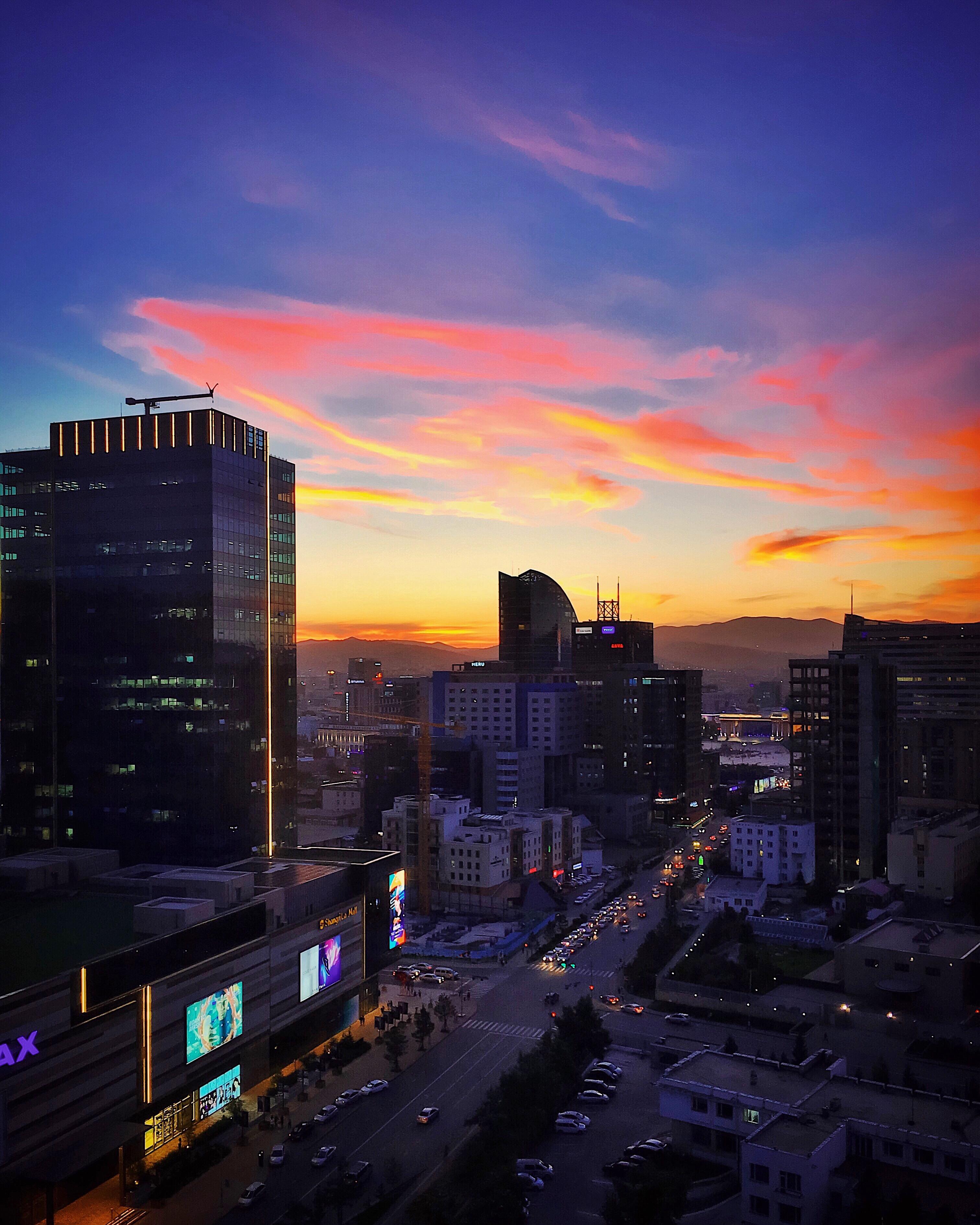 Ulaanbaatar sunset